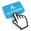 Accessibility computer icon button